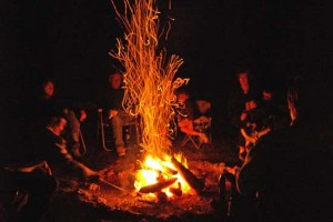 Storytelling around the campfire